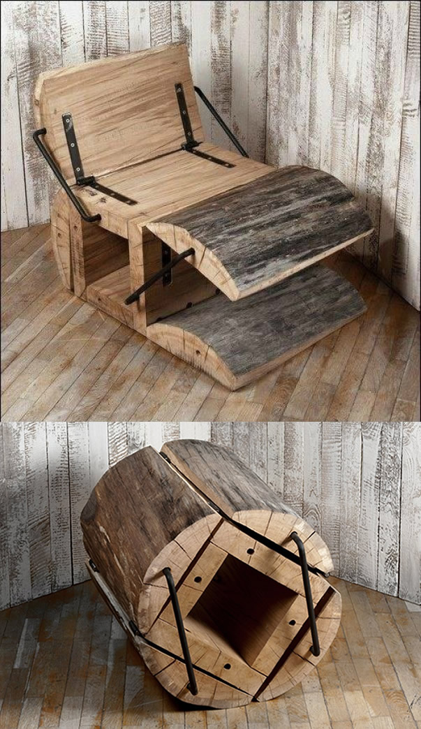 Stunning Log Chair Project Woodworking Top Wood Plans