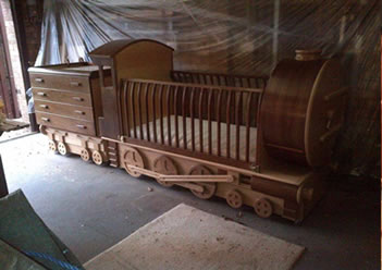 bed and dresser train cot plans