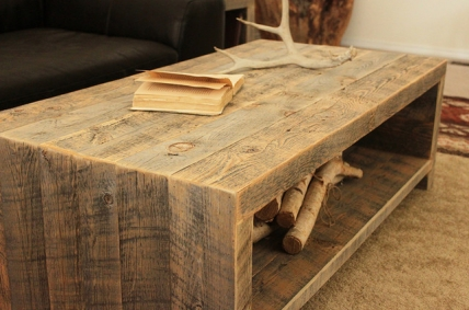 rustic coffee table plan