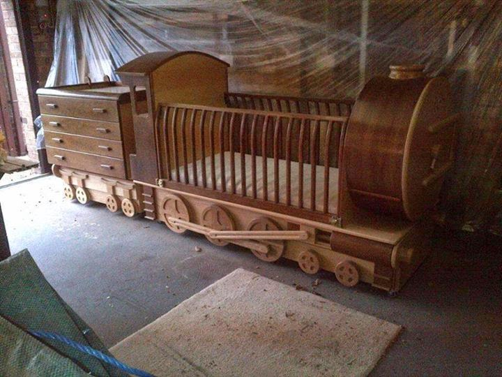 bed cot train plans for kids