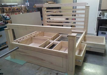 frame bed with storage plans