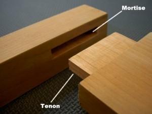 5. Joint à mortaise et tenon: